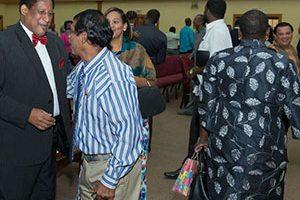 Pastor greeting