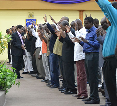 Men praising God