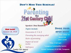 Family Care Agency Parenting Seminar @ Tunapuna Community Centre | Tunapuna | Tunapuna/Piarco Regional Corporation | Trinidad and Tobago